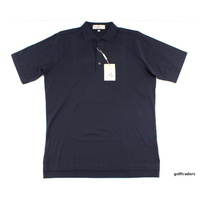 FAIRWAY & GREENE MENS GOLF SHIRT MEDIUM NAVY BLUE - #B1634
