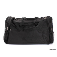 TRAVEL BAG BLACK WITH SHOULDER STRAP - NEW #C1397