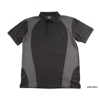 SPORTE LEISURE DRI-SPORTE MENS GOLF SHIRT BLACK SIZE MEDIUM - NEW #C5925