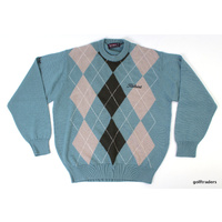 LOCHABER TITLEIST SWEATER SIZE M CYAN/BLACK/CREAM - #C5975
