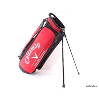 CALLAWAY GOLF 'CUSTOM FITTING' STAND BAG RED/BLACK - SUPERB #D1576