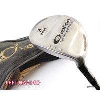 ADAMS GOLF OVATION OFFSET HL 3 WOOD GRAPHITE REGULAR +COVER +NEW GRIP +LH #D235