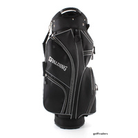 SPALDING TRUE BLACK GOLF CART BAG - BLACK / GREY - NEW - #D2814