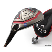 CALLAWAY BIG BERTHA 4 HYBRID 22º GRAPHITE RECOIL REG FLEX + COVER + NEW #D3889