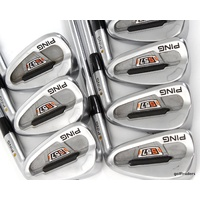 PING S57 YELLOW DOT IRONS 4-PW DYNAMIC GOLD S300 STIFF - #D3978