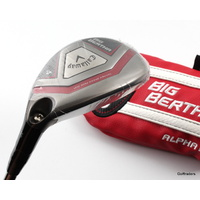 CALLAWAY BIG BERTHA 4 HYBRID 22º GRAPHITE REGULAR + COVER - NEW #D4117