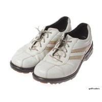 ECCO GOLF MEN'S GOLF SHOES WHITE LEATHER CLEATTED EU=42, US=8/8.5 UUSED #D4200