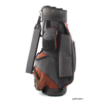 EAGLE AND BIRDIES SOLUTION GOLF CART BAG - GREY / APRICOT - USED #D4224