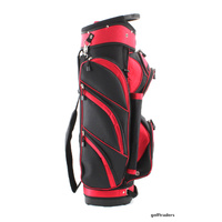 OPTIMA GOLF CART BAG RED / BLACK - NEW #D4372