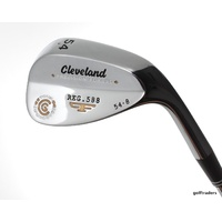 CLEVELAND REG.588 PRECISION FORGED SAND WEDGE 54.08 STEEL WEDGE FLEX MINT D4443