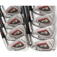 "WILSON STAFF MIDSIZE IRONS 3-PW GRAPHITE UST STIFF +NEW GRIPS (0.25"") #D4623"
