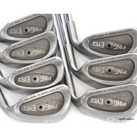 PING EYE 2 BLACK DOT 5-SW IRONS STEEL JZ STIFF FLEX + NEW GRIPS #D4625