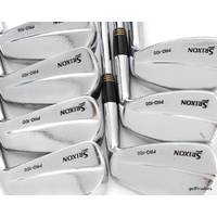 "SRIXON PRO -100 IRONS 4-PW DYNAMIC GOLD S300 STIFF +ALL NEW GRIPS (+0.5"") D4632"