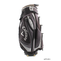 "CALLAWAY GOLF CART BAG - 14 WAY 10""X 8"" TOP - BLACK/ MAROON - USED #D4820"