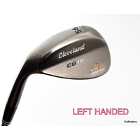 CLEVELAND CG15 ZIP GROOVES 56º SAND WEDGE STEEL WEDGE FLEX - LH NEW GRIP #D4911