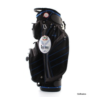 EAGLES AND BIRDIES CYPRESS POINT CART BAG BLACK/GUNMETAL/COBALT - NEW #D5018