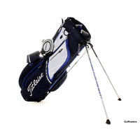 TITLEIST GOLF STAND BAG BLUE / WHITE +HOOD COVER - USED #D5071