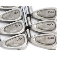 "XXIO ""JAPAN"" IMPACT POWER FACE 3-5, 7-PW IRONS STEEL FIRM REG +NEW GRIPS #D5180"