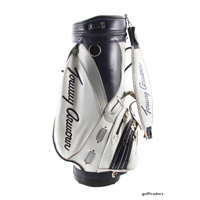 "TOMMY ARMOUR 11"" TOUR STAFF GOLF BAG - BLUE / WHITE / BLACK - USED #D5307"