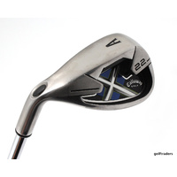 CALLAWAY X22 STEEL GAP WEDGE STEEL TRUE TEMPER UNIFLEX +NEW GRIP + LH #D5421