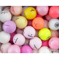 MIXED BRANDED LADIES GOLF BALLS x 35 - USED - #D5548
