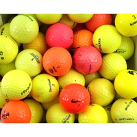 MIXED BRANDED COLOURED GOLF BALLS x 55 - USED - #D5549