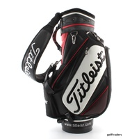 "TITLEIST 2015 TOUR STAFF BAG 9"" TOP 6 WAY DIVIDER + CLEAR RAIN HOOD #D5584"