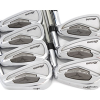 MIZUNO MP-15 Ti MUSCLE FORGED IRONS 4-PW GRAPHITE PROFORCE 75 REG FLEX #D5896