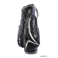TAYLORMADE GOLF CART BAG + RAIN HOOD - NAVY BLUE / WHITE  #D5898