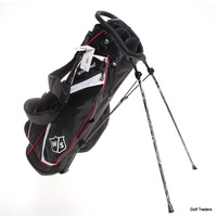 WILSON STAFF LITE II STAND BAG BLACK / RED / WHITE - BRAND NEW - #D5925