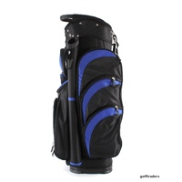 EAGLES AND BIRDIES 2017 BIG FRIDGE CART BAG BLACK / COBALT BLUE - NEW #D6017