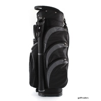 EAGLES AND BIRDIES 2017 BIG FRIDGE CART BAG BLACK / CHARCOAL - NEW #D6018