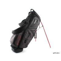PING 2017 HOOFER GOLF STAND BAG - BLACK / CHARCOAL / RED - NEW #D6200
