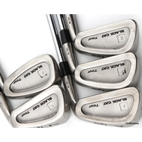 LYNX BLACK CAT TOUR IRONS 4-8 STEEL DG XP R300 REGULAR FLEX +NEW GRIPS #D6247