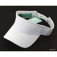 CLEVELAND GOLF ADJUSTABLE ONE SIZE FITS ALL GOLF VISOR-COTTON-WHITE -NEW #D803