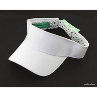 CLEVELAND GOLF ADJUSTABLE ONE SIZE FITS ALL GOLF VISOR-COTTON-WHITE -NEW #D804