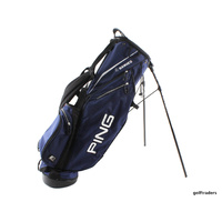 PING E2 4 SERIES STAND BAG NAVY BLUE 4 WAY TOP LIKE NEW E110