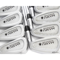 "MAXFLI REVOLUTION BLACK IRONS 3-PW STEEL DYNAMIC GOLD STIFF FLEX +0.25"" #E1569"