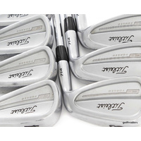 TITLEIST 714 CB FORGED IRONS 4-PW STEEL DYNAMIC GOLD X100 X-STIFF FLEX #E1870