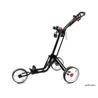NIBLICK QWIK FOLD 3 WHEEL GOLF BUGGY - BLACK / WHITE/ RED - NEW - #E2112