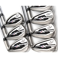 "CALLAWAY XR IRONS 4-PW STEEL SPEEDSTEP 80 REG FLEX +ALL NEW GRIPS +0.5"" #E2777"