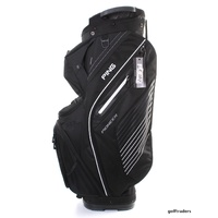 PING 2017 PIONEER CART BAG - BLACK / WHITE LINES - NEW - #E2813