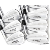 "TITLEIST 714 MB FORGED 4-PW IRONS DYNAMIC GOLD STIFF +NEW GRIPS +0.75"" #E2852"