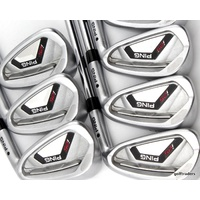 PING i25 BLACK DOT IRONS 4-PW STEEL CFS STIFF FLEX #E2868
