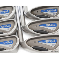 PING G2 BLACK DOT IRONS 4-PW STEEL REGULAR FLEX - MINT - #E2890