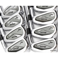 MIZUNO MP-53 GF FORGED IRONS 3-PW STEEL KBS TOUR STIFF FLEX +NEW GRIPS #E3017