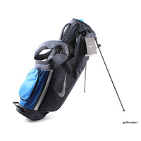 NIKE SPORT LITE III STAND BAG DK OBSDN / SILVER / PHT BLUE - NEW - #E3223