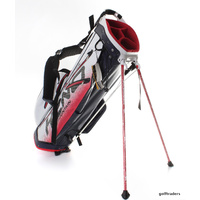 SUN MOUNTAIN H2NO LITE WATERPROOF STAND BAG NAVY / WHITE / RED - NEW #E3229