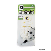 2-PACK OF FOOTJOY WEATHERSOF LADIES RH MEDIUM GLOVES -LH PLAYER WHITE NEW E3690