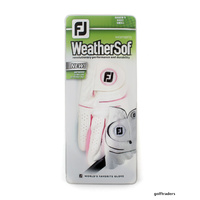 2-PACK OF FOOTJOY WEATHERSOF LADIES RH SMALL GLOVES -LH PLAYER WHITE -NEW E3691